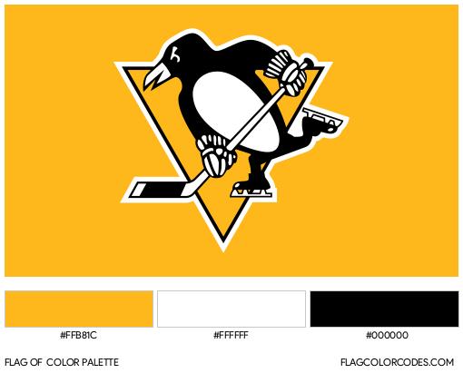 Pittsburgh Penguins Flag Color Palette
