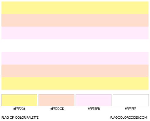 Pangender Flag Color Palette