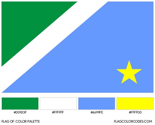 Mato Grosso do Sul Flag Color Palette