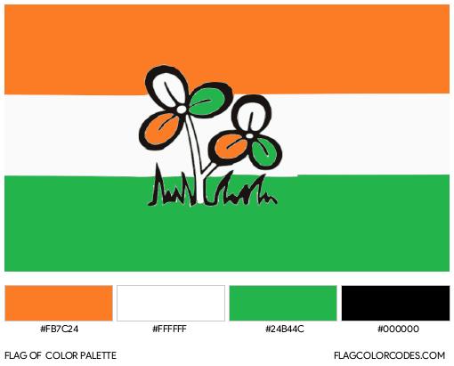 All India Trinamool Congress Flag Color Palette