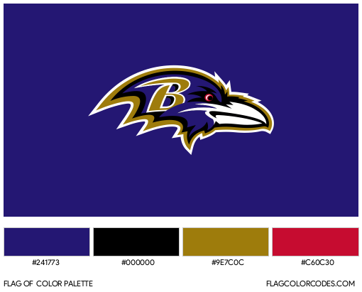 Baltimore Ravens Flag Color Palette