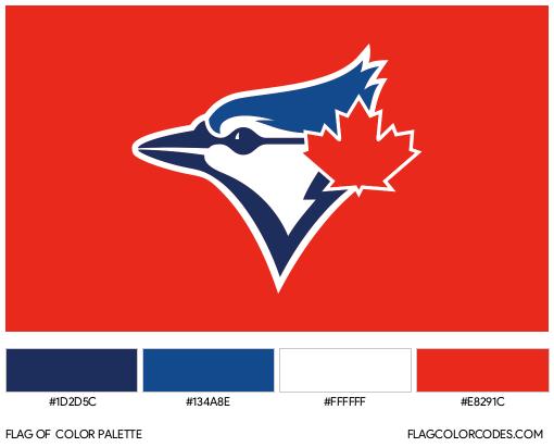 Toronto Blue Jays Flag Color Palette