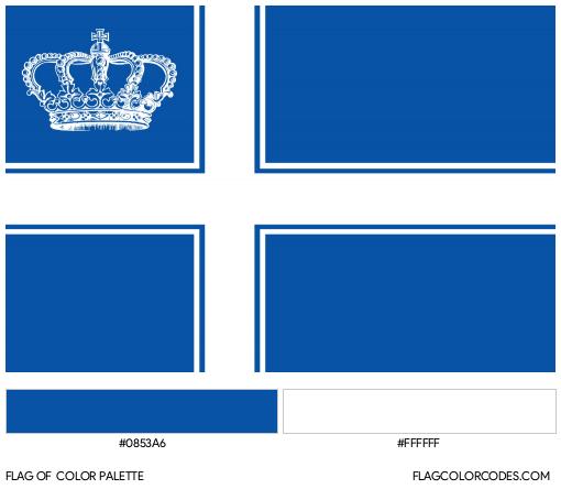Westarctica Flag Color Palette