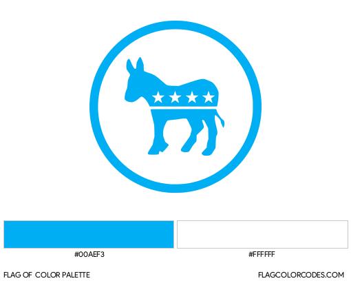 Democratic Party (Donkey) Flag Color Palette