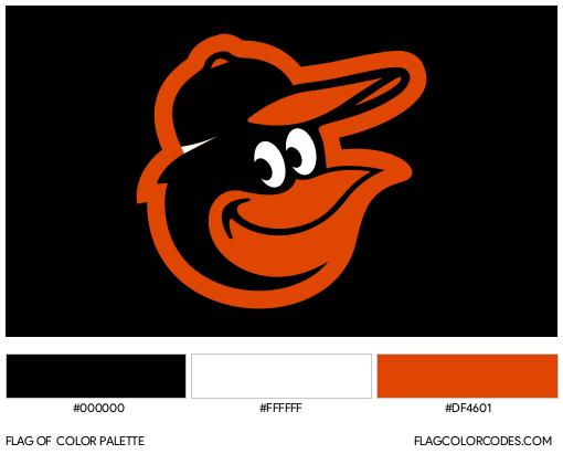 Baltimore Orioles Flag Color Palette