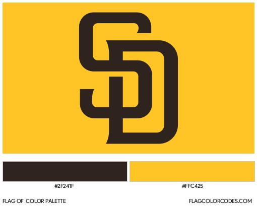San Diego Padres Flag Color Palette