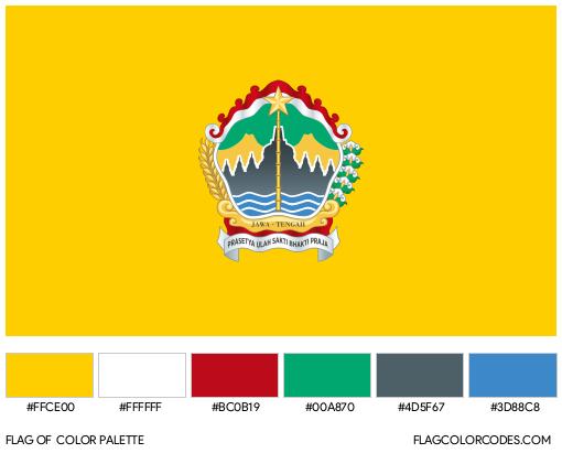 Central Java Flag Color Palette