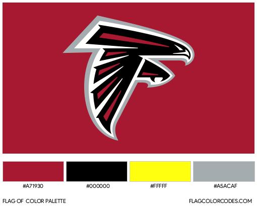 Atlanta Falcons Flag Color Palette
