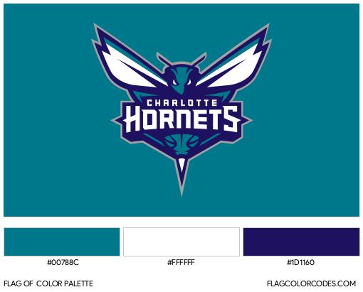 Charlotte Hornets Flag Color Palette