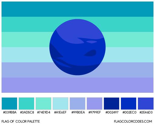 Alternate Neptunic Flag Color Palette