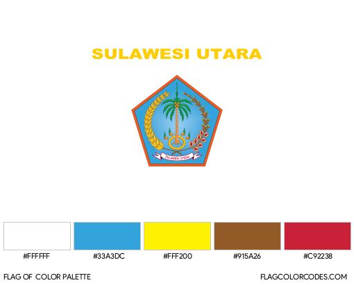 North Sulawesi Flag Color Palette