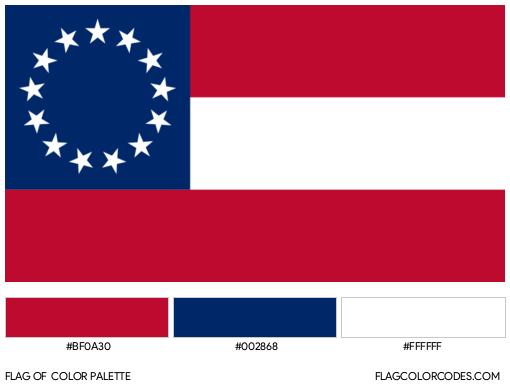 Confederate Flag Colors Flag Color Palette