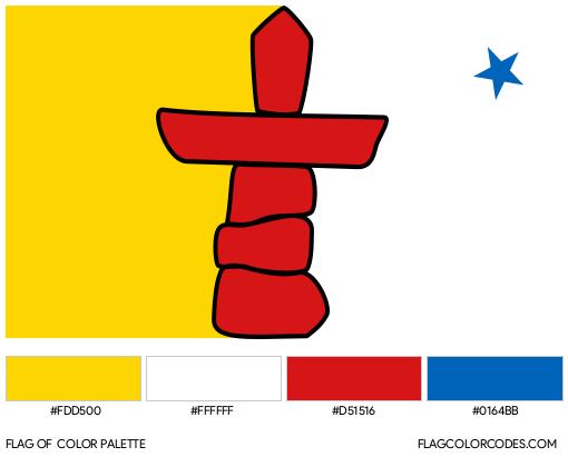 Nunavut Flag Color Palette