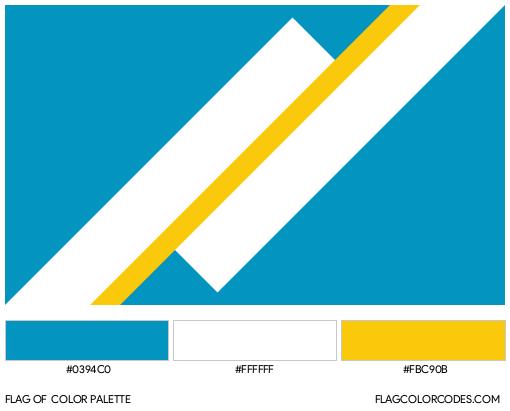 Franco-Yukonnais Flag Color Palette
