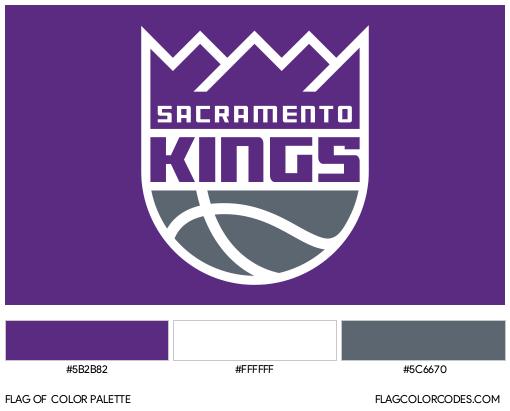 Sacramento Kings Flag Color Palette
