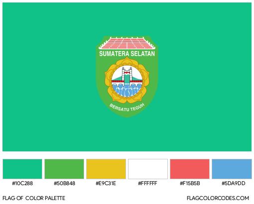 South Sumatra Flag Color Palette