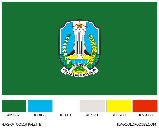 East Java Flag Color Palette