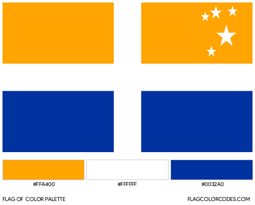 Isles of Scilly Flag Color Palette