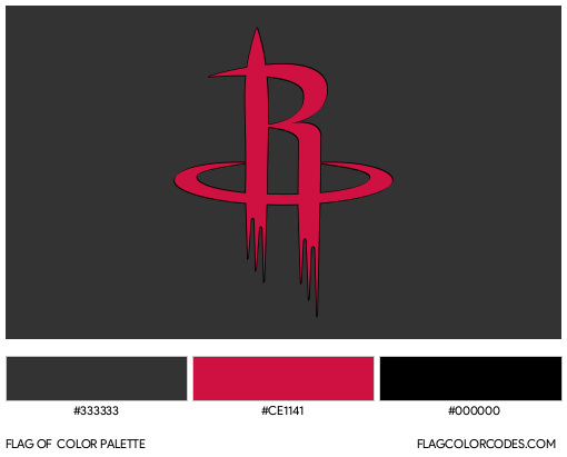 Houston Rockets Flag Color Palette