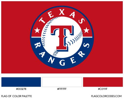 Texas Rangers Flag Color Palette