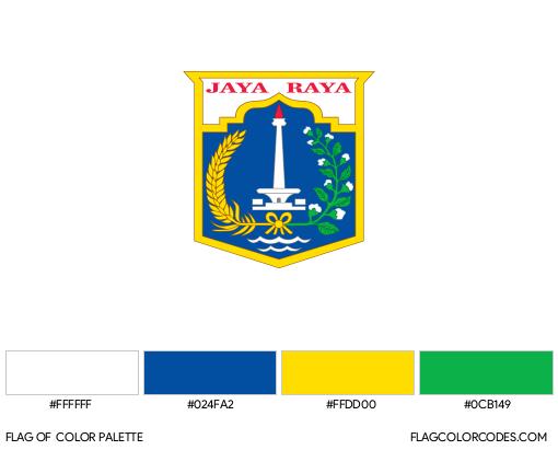 Jakarta Flag Color Palette
