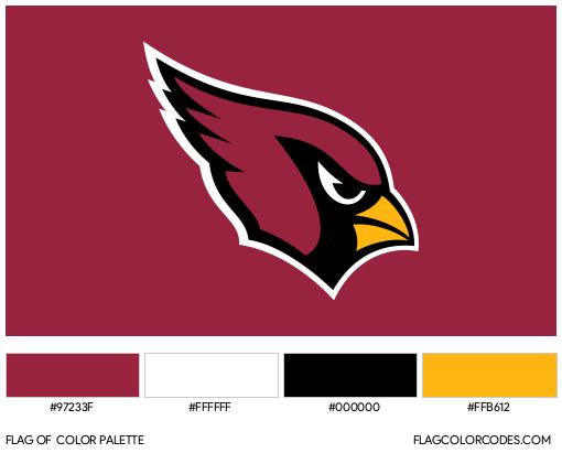 Arizona Cardinals Flag Color Palette