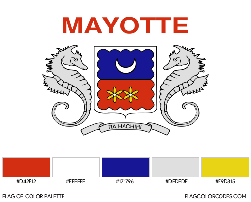Mayotte (Unofficial) Flag Color Palette