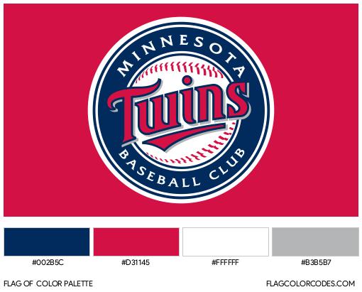 Minnesota Twins Flag Color Palette