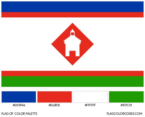 Yakutsk Flag Color Palette