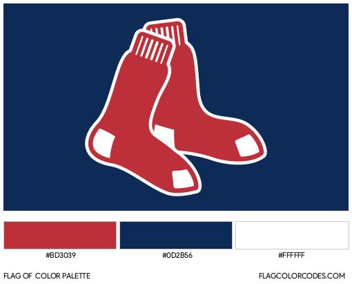 Boston Red Sox Flag Color Palette