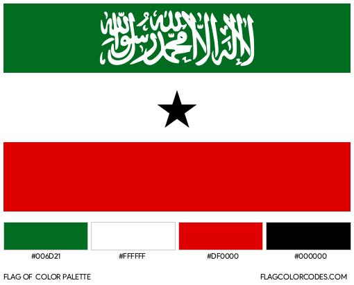Somaliland Flag Color Palette