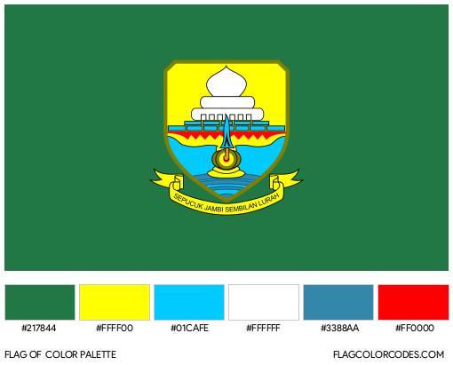 Jambi Flag Color Palette
