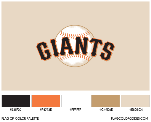 San Francisco Giants Flag Color Palette