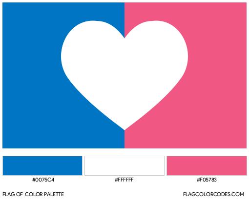 Cisgender (Alternate) Flag Color Palette