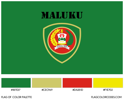 Maluku Flag Color Palette