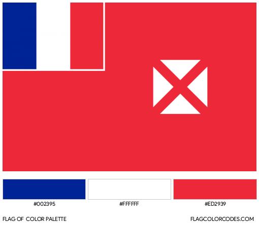 Wallis & Futuna Islands (Unofficial) Flag Color Palette