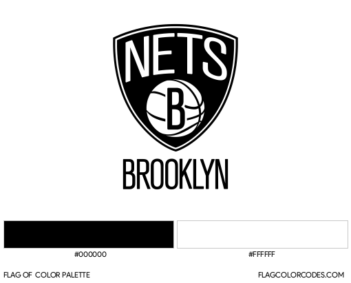 Brooklyn Nets Flag Color Palette