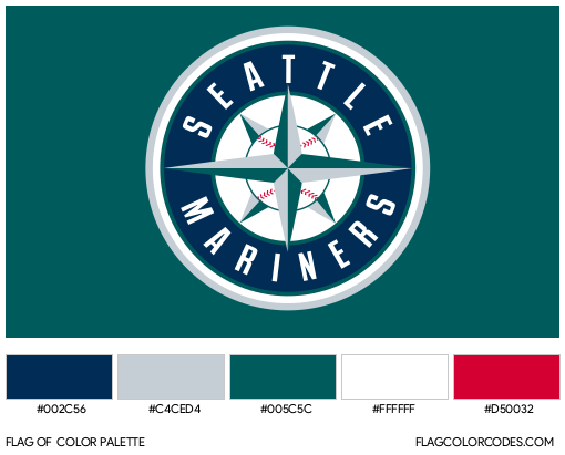 Seattle Mariners Flag Color Palette