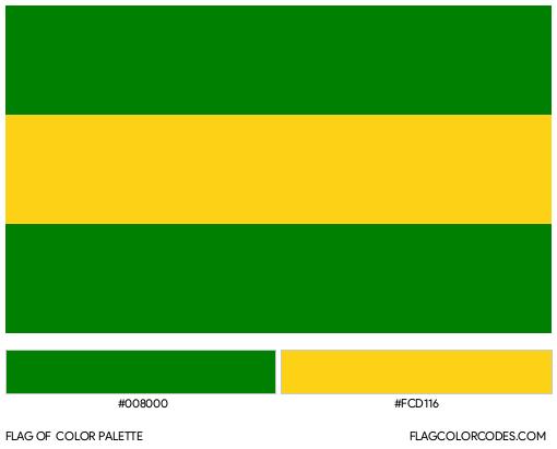 Cauca Flag Color Palette