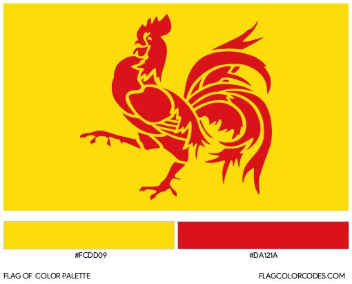 French Community (Belgium) Flag Color Palette