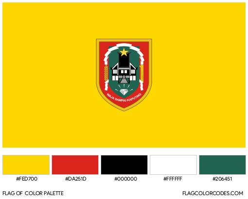 South Kalimantan Flag Color Palette