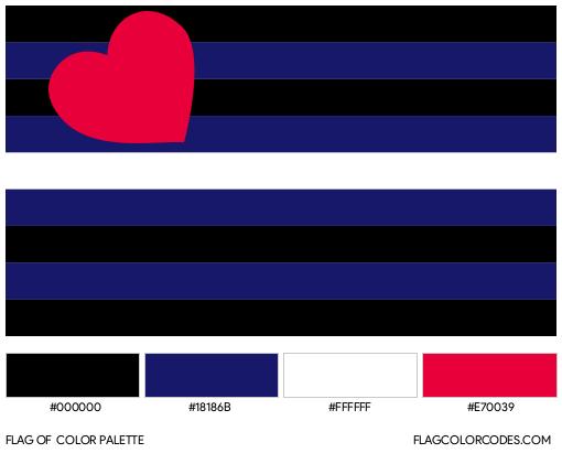Leather Pride Flag Color Palette