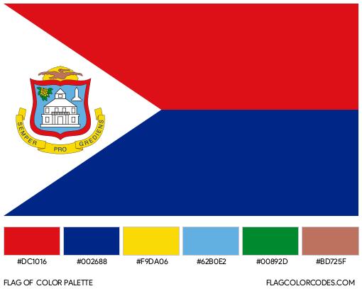 Sint Maarten Flag Color Palette