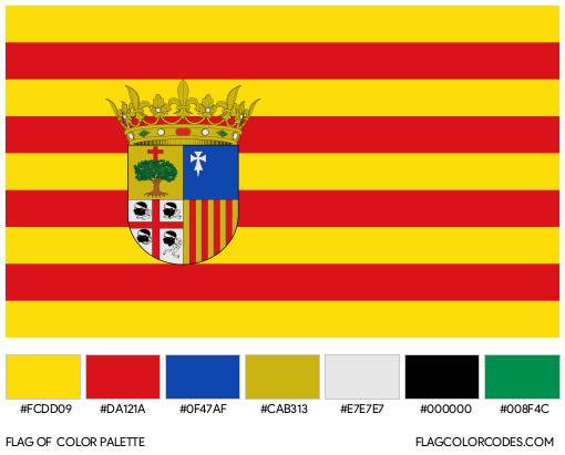 Aragon Flag Color Palette