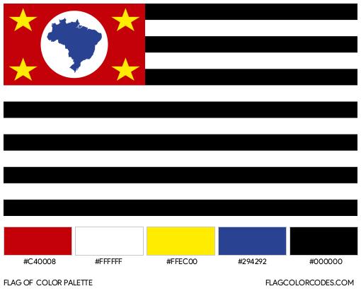São Paulo Flag Color Palette