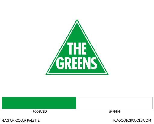 Australian Greens Flag Color Palette