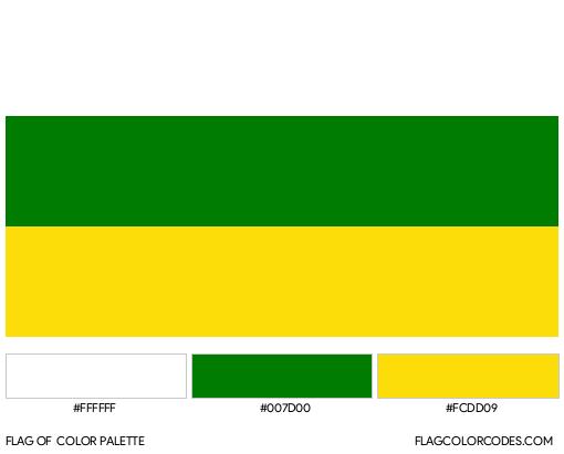 Huila Flag Color Palette