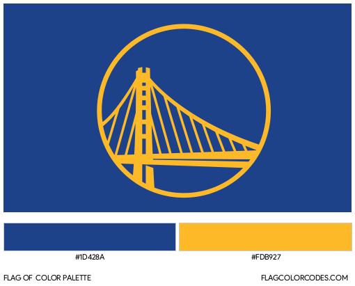 Golden State Warriors Flag Color Palette