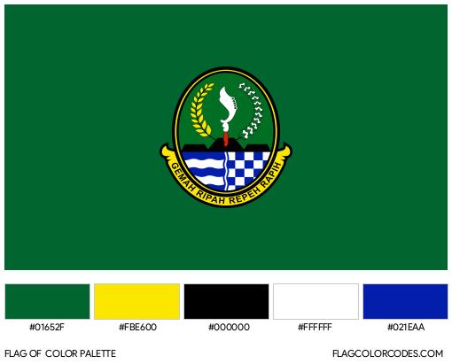 West Java Flag Color Palette