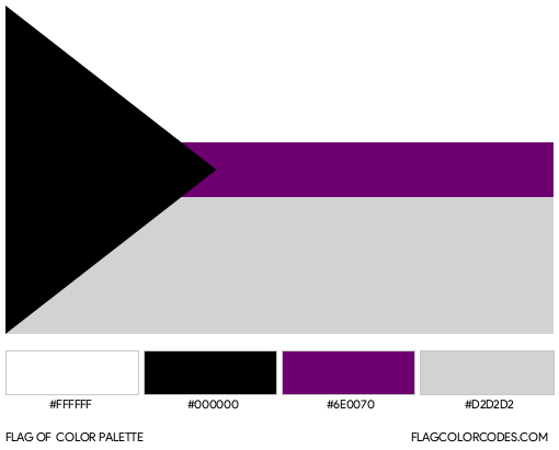 Demisexual Flag Color Palette